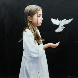 White Dove 60cm x 60cm