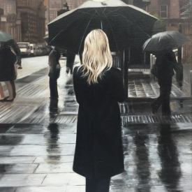 Black Coat on the Crescent - 60 x 40cm £2,500 (0186)
