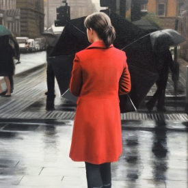Red Coat on the Crescent - 60 x 40cm £2,500 (0187)
