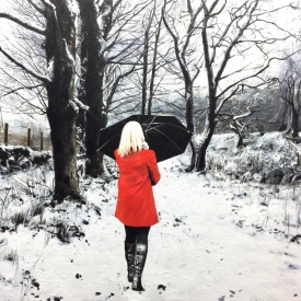 Red Coat in Winter 50 x 70cm £3,500 (0193)