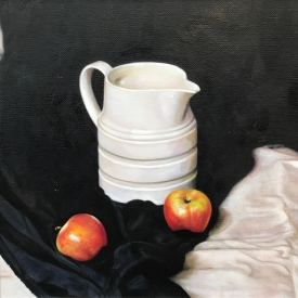 Still Life with White jug 40 x 40cm £1250 (0245)