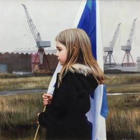 Saltire and the Clyde 60 x 60cm - £3,500