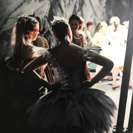 The Rehearsal 80 x 80cm