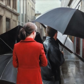 Umbrellas on Royal Exchange Square 50 x 50cm - £2,400