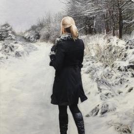 Walk along a winters path no2 - 60 x 40cm £2,500 (0051)