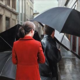 Umbrellas on Royal Exchange Square 50 x 50cm - £2,400