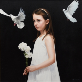 White Carnations 60 x 60cm £3500 (0151)