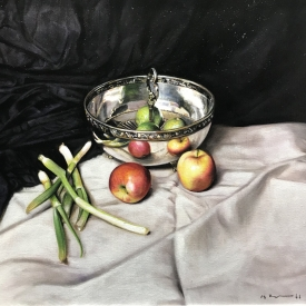 Still life with apples 50 x 50cm £2500 (0349)