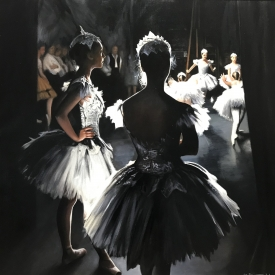 Dancers in the wings 80 x 80cm £5950 (0343)