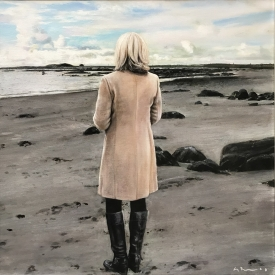 Standing on a beach 50 x 50cm £2500 (0329)