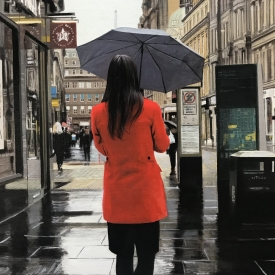 Red coat on Gordon Street 60 x 40cm £5200 (0354)