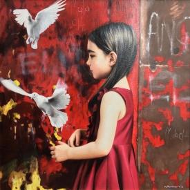 Malach (angel) 60 x 60cm £3500 (0288)