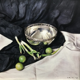 Still life with three limes 50 x 50cm £2500 (0350)