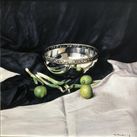 Still life with limes 50 x 50cm £2500 (0315)