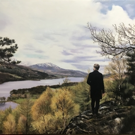 The view down Loch Ard 120 x 90cm £10750 (0359)