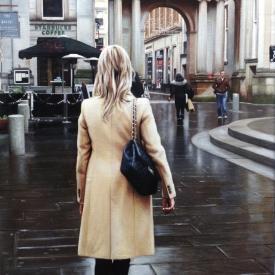 Rain on royal exchange square 50cm x 50cm