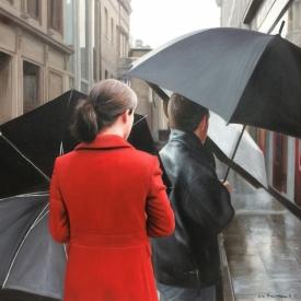 Umbrellas on royal exchange square 50cm x 50cm