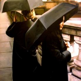 Umbrellas on the Clyde 120cm x 120cm