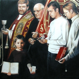 Jesuit Commission 120cm x 120cm