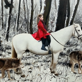Red Coat White Horse 100cm x 150cm