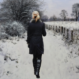 Winters Path 60cm x 40cm