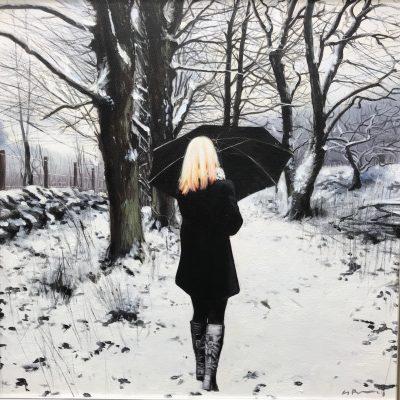 Snow on a Winter Path