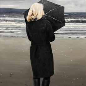 SOLD - Woman on a Beach 60 x 40cm £2500 (0228)