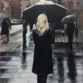 SOLD - Black Coat on St Vincent Crescent 60 x 40cm - £2500 (0168)