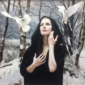 SOLD - A Dream of Winter - 60 x 60cm £3500 (0184)