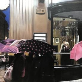SOLD - Umbrellas in the City 50 x 70cm £3500 (0217)