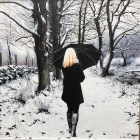 Snow on a Winter Path 50 x 50cm £2500 (0239)