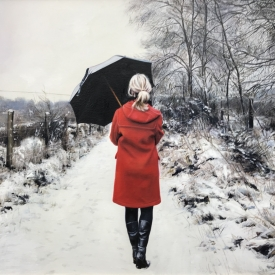SOLD - Walk on a Winters Day 50 x 50cm £2500 (0260)