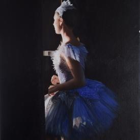 The Blue Dress 40cm X 60cm