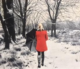Walk on a Winters Path - 45 x 60cm £2500 (0196)