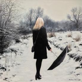 The Winter Path 50 x 50cm £2500 (0227)