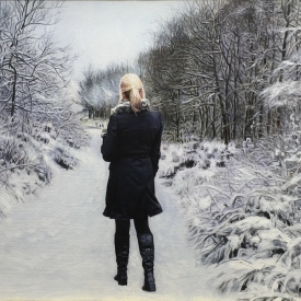 Walk in winter forest - 60 x 40cm £2,500 (0015)