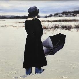 A walk through snow in winter - 60 x 90cm £4,250 (0024)