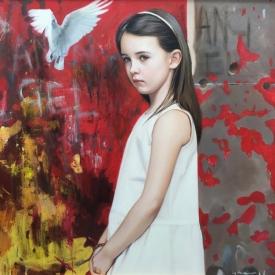 Angel (grafitti) - 60 x 60cm £3,500 (0011)