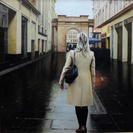 Rain in the city - 50 x 50cm £2,500 (0023)