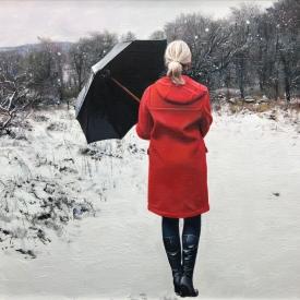red coat winter 60 x 40cm £2500 (0330)