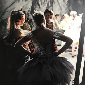 The rehearsal 80 x 80cm £5950 (0337)