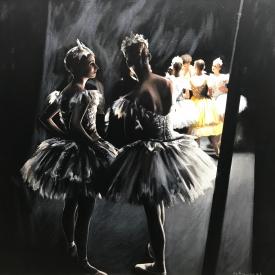 Dancers 70 x 70cm £5250 (0342)
