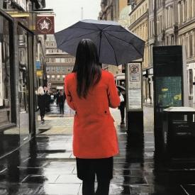 Red coat on Gordon Street 60 x 40cm £5200 (0354)