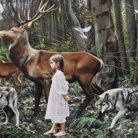 Child of the forest - 120 x 180cm £25,000 (0122)