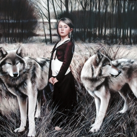 Company of Wolves 120cm x 120cm