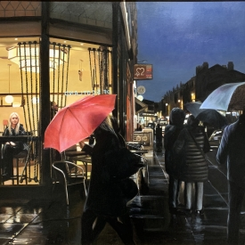 Rainy Night in the West End 70cm x 100cm