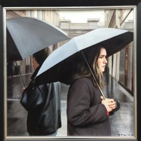 Rain in the city 50cm x 50cm