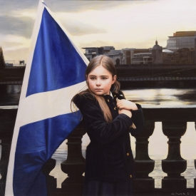 Saltire and the Clyde 60 x 60cm