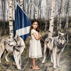 Fillan (little wolf) - 100 x 100cm