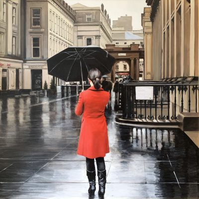 Red Coat in Royal Exchange Square